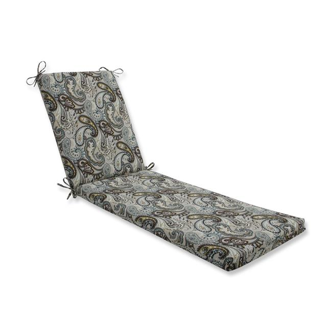 80 x 23 x 3 in. Outdoor & Indoor Tamara Paisley Quartz Chaise Lounge Cushion, Blue