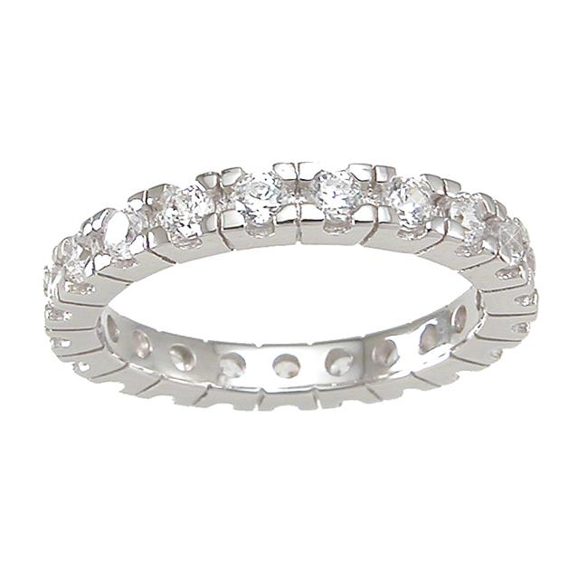 Plutus kkr6746a 925 Sterling Silver Eternity Wedding Band Size 6
