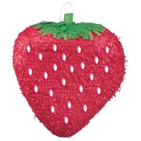 Strawberry Pinata, Red, 16in x 18in