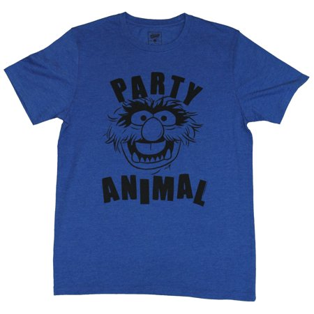 The Muppets Mens T-Shirt -  Party Animal Face In Between Words Drawing
