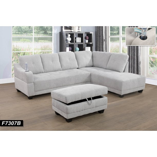 Fancy Right Facing Sectional Sofa With
