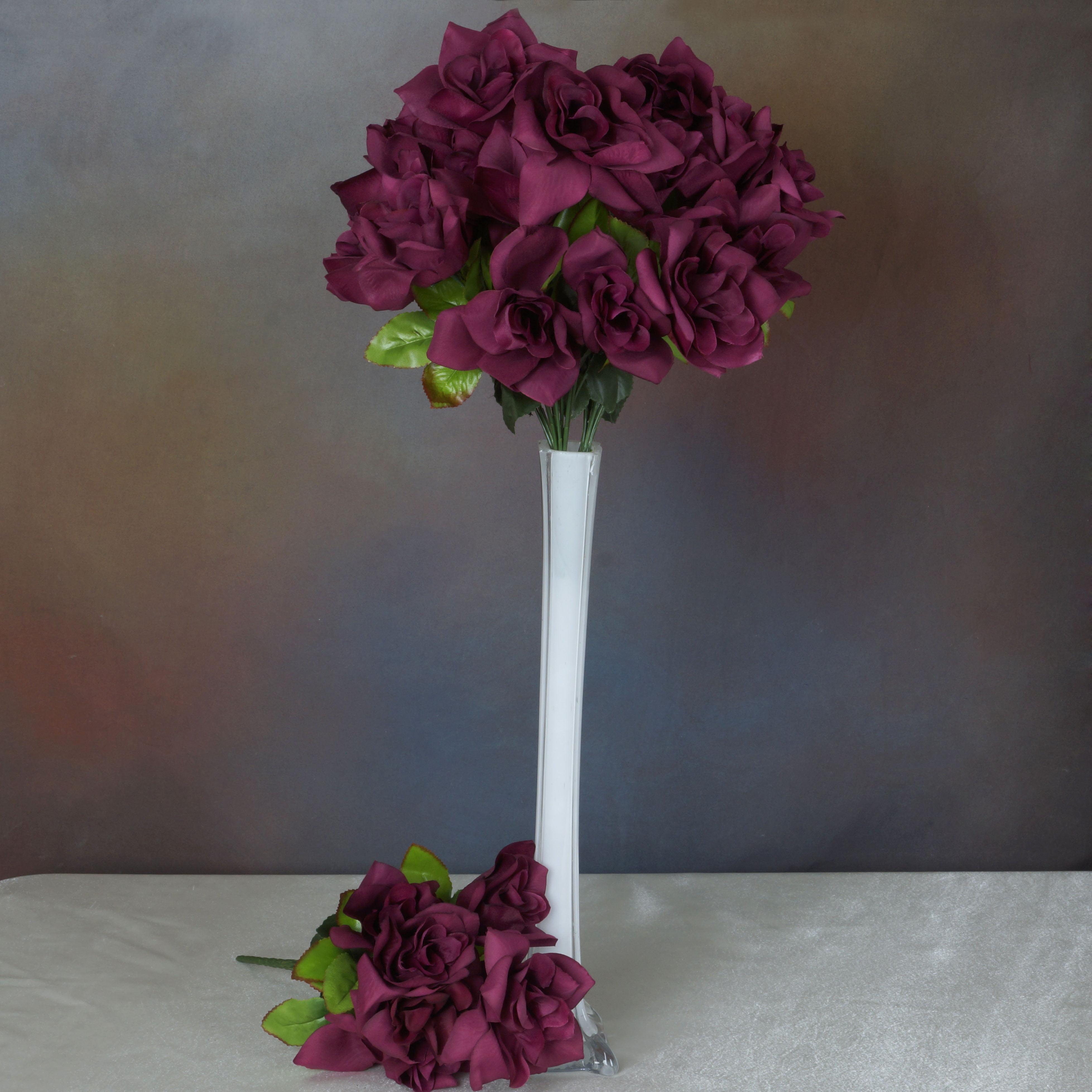 Efavormart 168 Open Velvet Roses for DIY Wedding Bouquets Centerpieces Arrangements Party Home Decorations Wholesale - 16 Colors