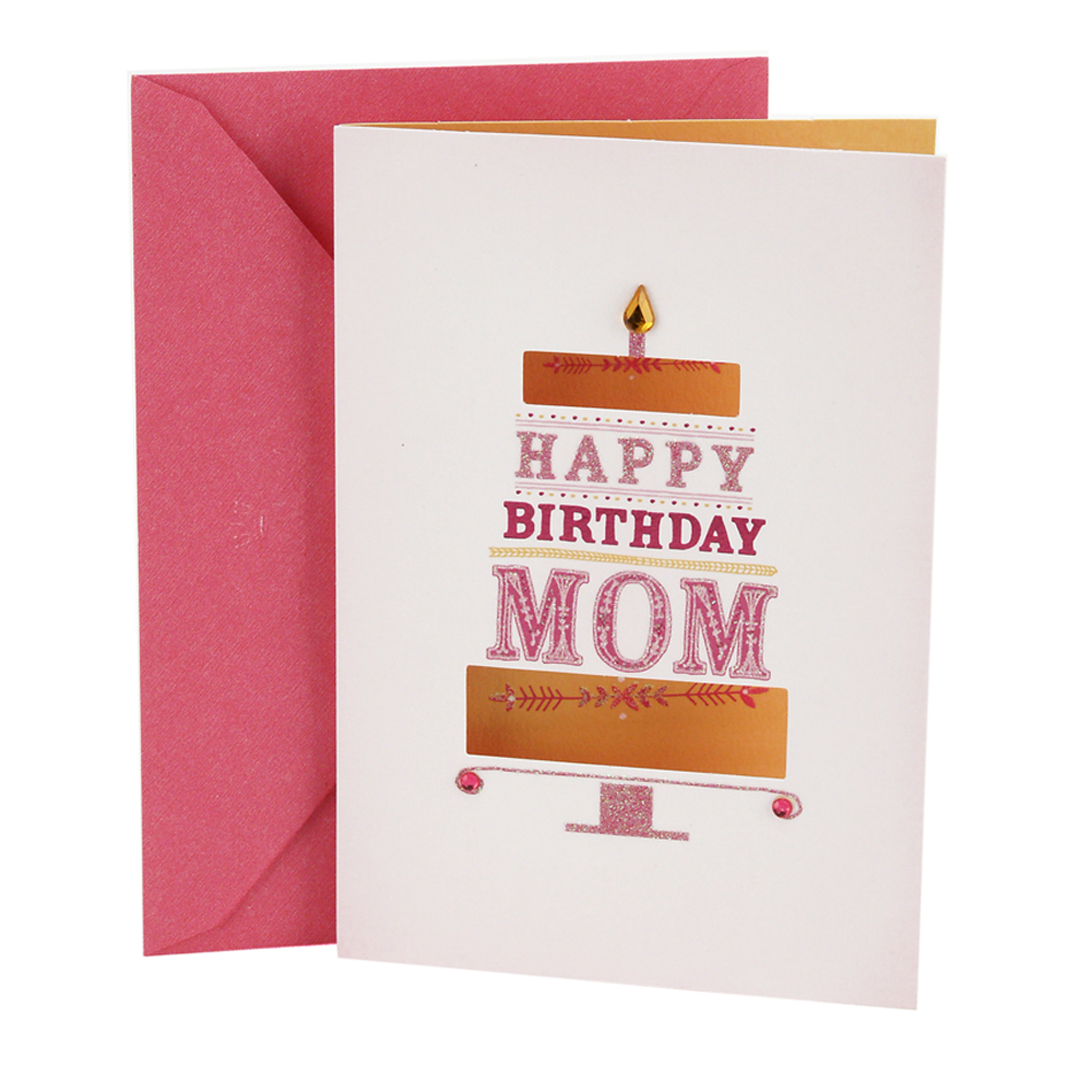 Hallmark Birthday Greeting Card to Mother (die-cut Cake)