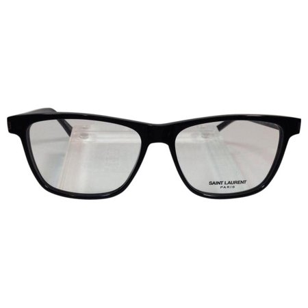 Saint Laurent SL 114 001 Black Transparent Plastic Eyeglasses 55mm