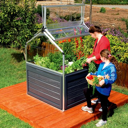 Palram Raised Patio Garden With Double Doors And Storage