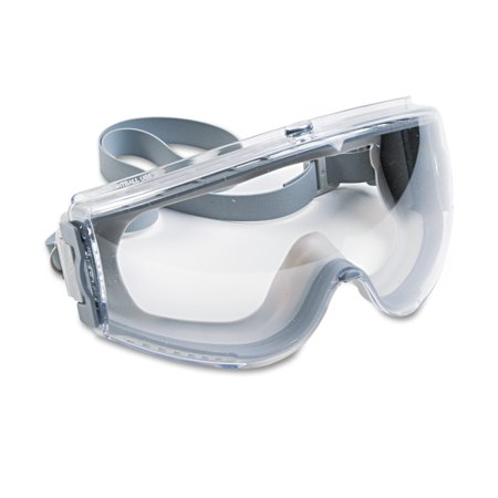 Honeywell Uvex Stealth Antifog  Antiscratch  Antistatic Goggles  Clear Lens  Gray Frame
