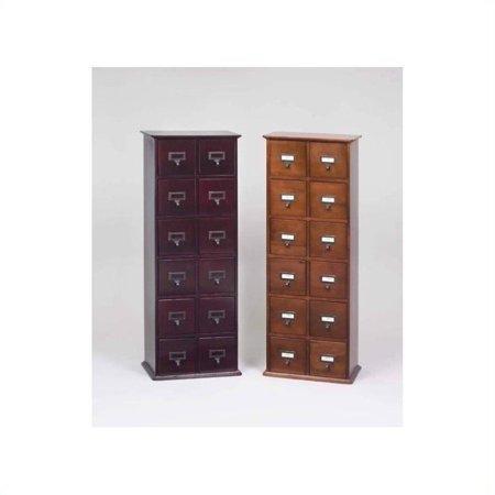 Leslie Dame 40″ 12-Drawer 228 CD Media Storage Cabinet-Oak