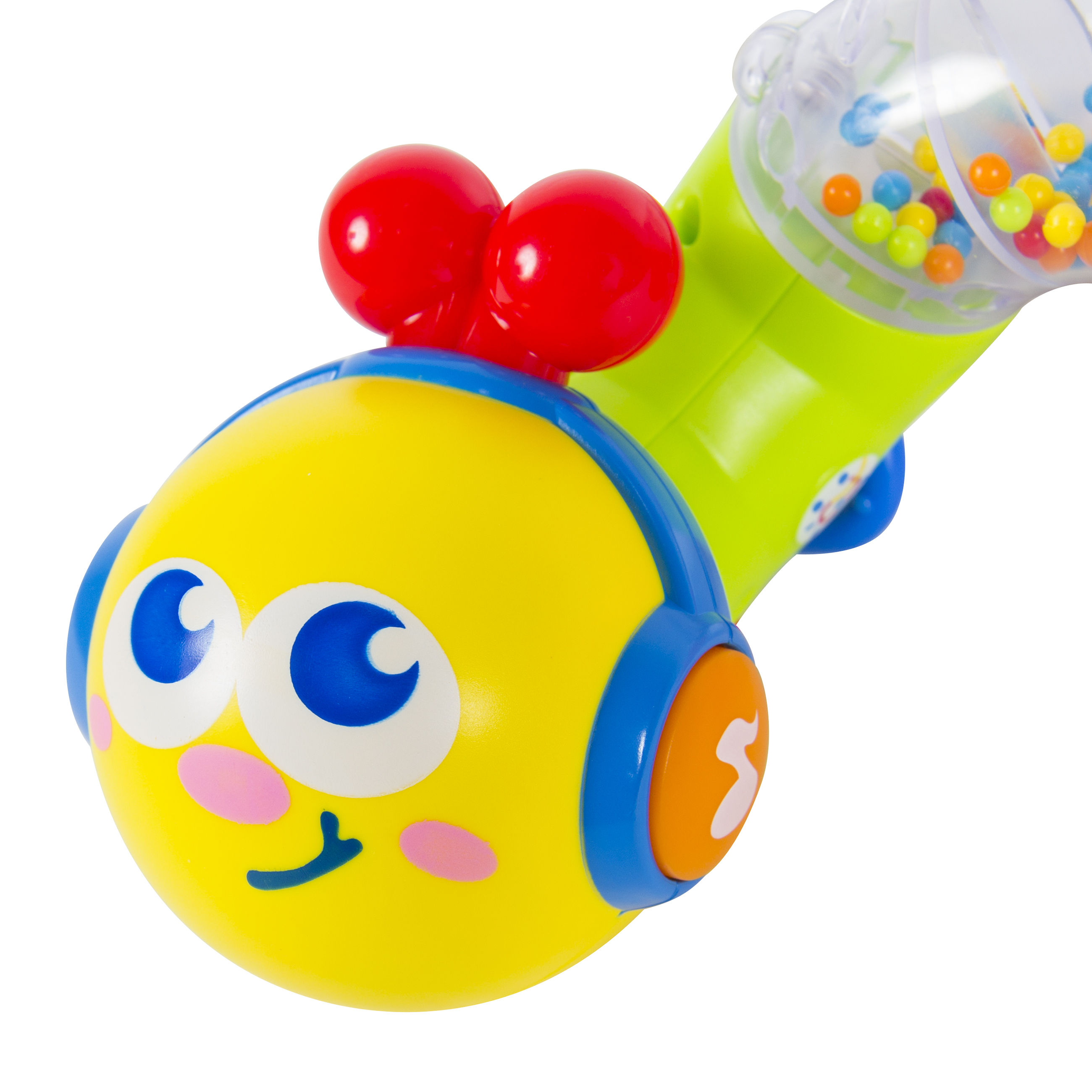 Twisting Rattling Baby Teether Toy Worm with Lights and Music