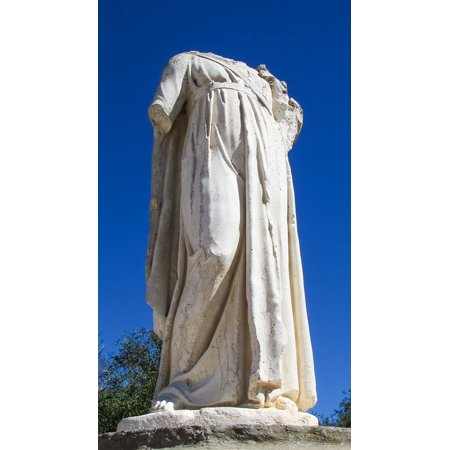 Peel-n-Stick Poster of Woman Cyprus Statue Archaeology Salamis Poster 24x16 Adhesive Sticker Poster Print