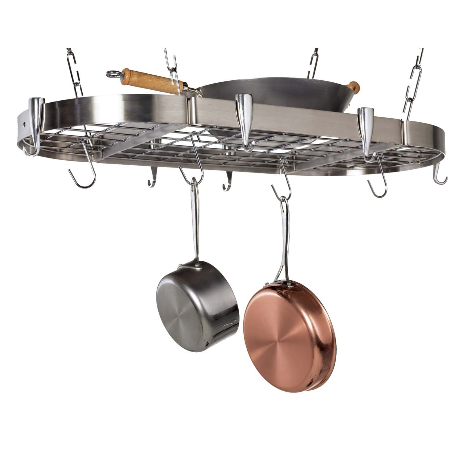 Carta Stainless Steel Oval Pot Rack by Group5 Mktg/Concept Housewares