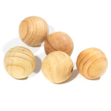 Craft County 1 inch Diameter Round Natural Wooden Ball – Multipacks – Crafts, Home Décor, Wood Projects, Sculpture - Wooden Halloween Crafts Adults