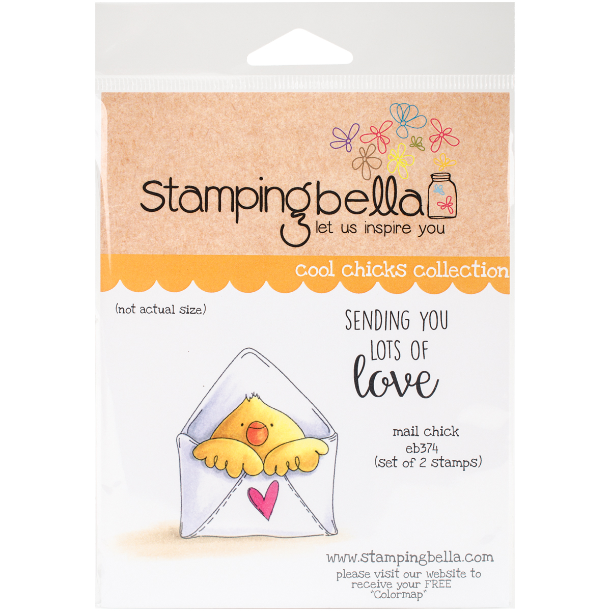 Stamping Bella Cling Stamps-Mail Chick