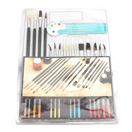 15 Paint Brush Set All Purpose Watercolor Acrylic Art Craft Artist Painting ()