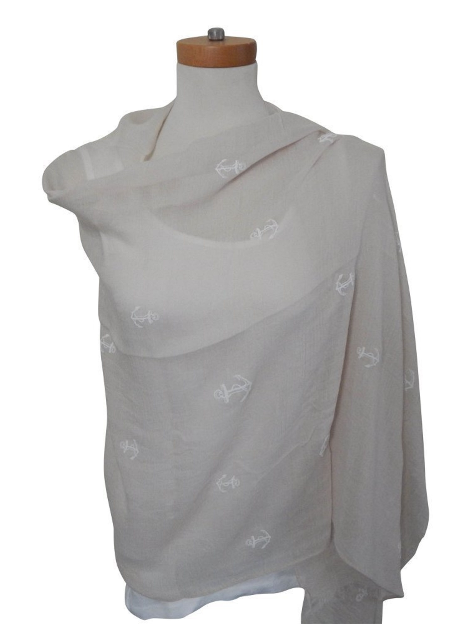 0062f94eab Beauté Fashion - Beaute Fashion Resort Collection Shawl Scarf Pashmina  Cover-Up Sarong Pareo Wrap (Designer Striped Ivory) - Walmart.com