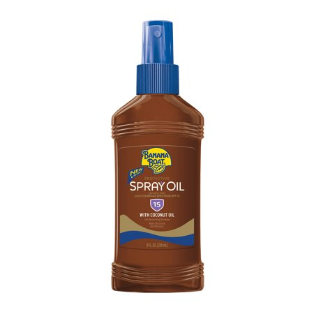 Banana Boat Deep Tanning Oil Sunscreen Pump Spray SPF 15, 8