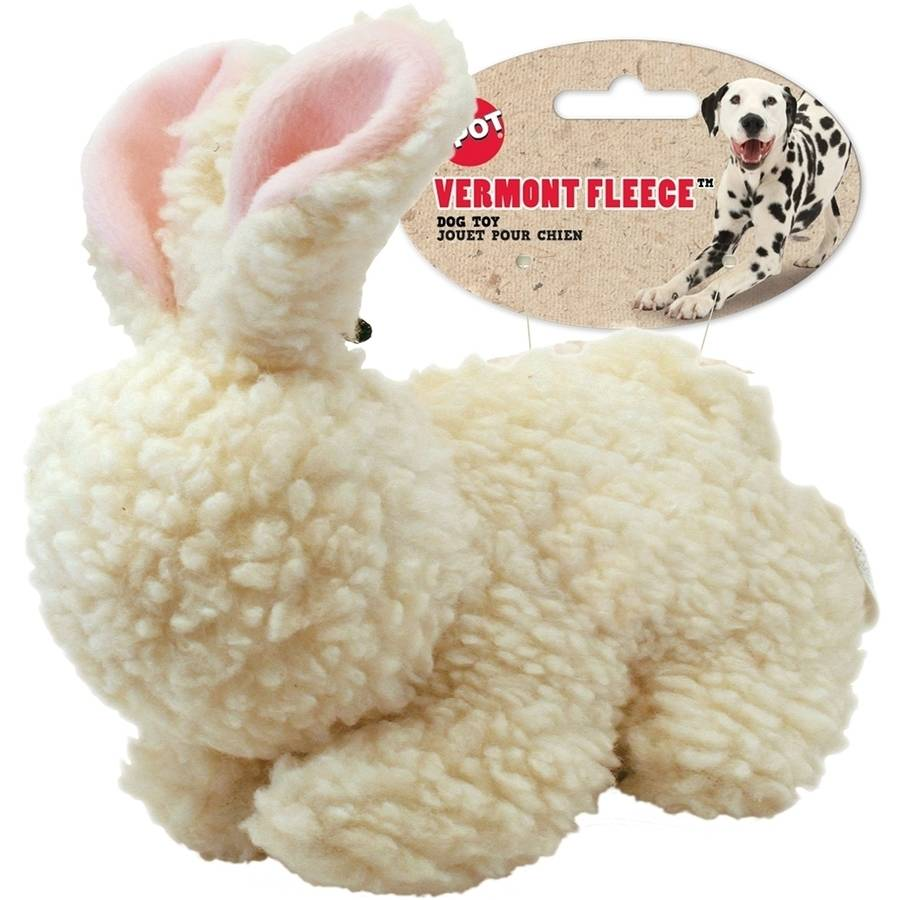 Ethical Products Spot Fleece Rabbit Dog Toy, 9""