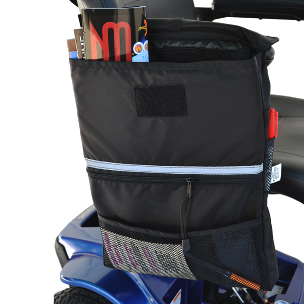 """Extra Large Mobility Saddlebag for Powerchairs and Scooters 16"""" x 12"""" x 2"""""""