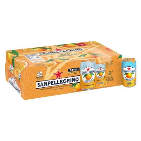 Sanpellegrino Orange Sparkling Fruit Beverage, 11.15 fl oz. Cans (24 (Best Orange Juice To Drink)