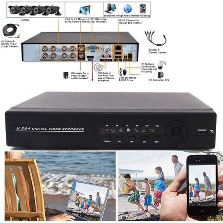 Zimtown 8Ch 960H 1080P Hdmi H 264 Dvr Network Video Recorder Wifi For Cctv Security Camera