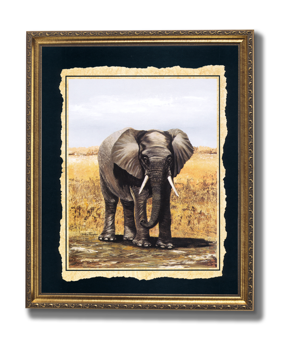 African Elephant Outdoor Home Decor Wall Picture Gold ... - photo#19