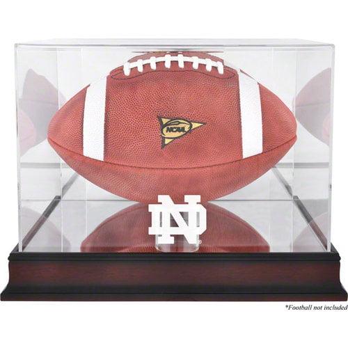 NCAA - Notre Dame Fighting Irish Mahogany Base Logo Football Display Case with Mirror Back