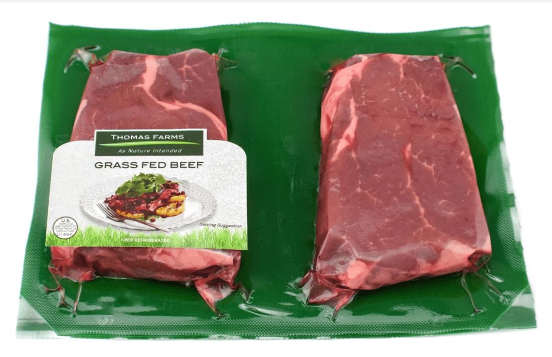 Thomas Farms Grass Fed Sirloin Steak, 0 5 Lb