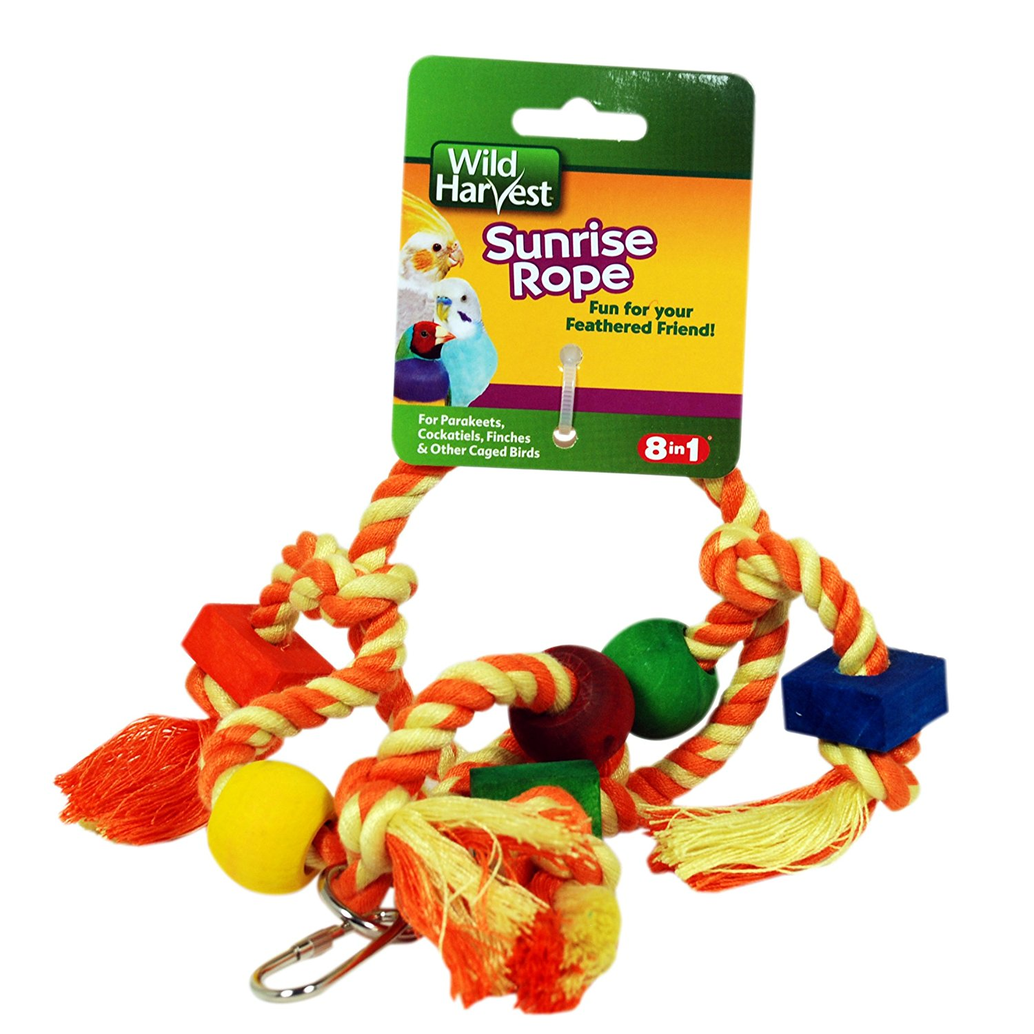 Wild Harvest Sunrise Rope Toy for Parakeets, Cockatiels, & Finches