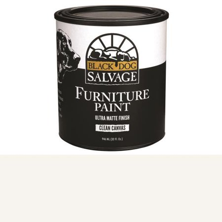 Black Dog Salvage Clean Canvas (White) Furniture Paint, 946ml, Quart