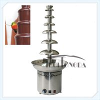 """Techtongda 110V 7 Tiers Electric Chocolate Fondue Fountain Stainless Steel 40.5"""" High #153075"""