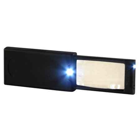 - Handheld Illuminated Pocket Magnify Glass 3x Reading Magnifier 24x Magnification