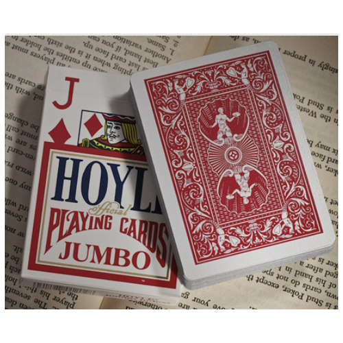 Hoyle Jumbo Index Playing Cards - 1 Sealed Red Deck #1003440