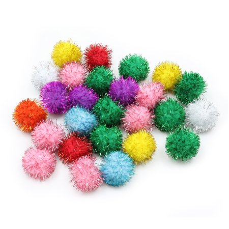 Creativity Street® Glitter Pom Pons, 33mm, Assorted Glitter, Pack of - Bag Of Glitter