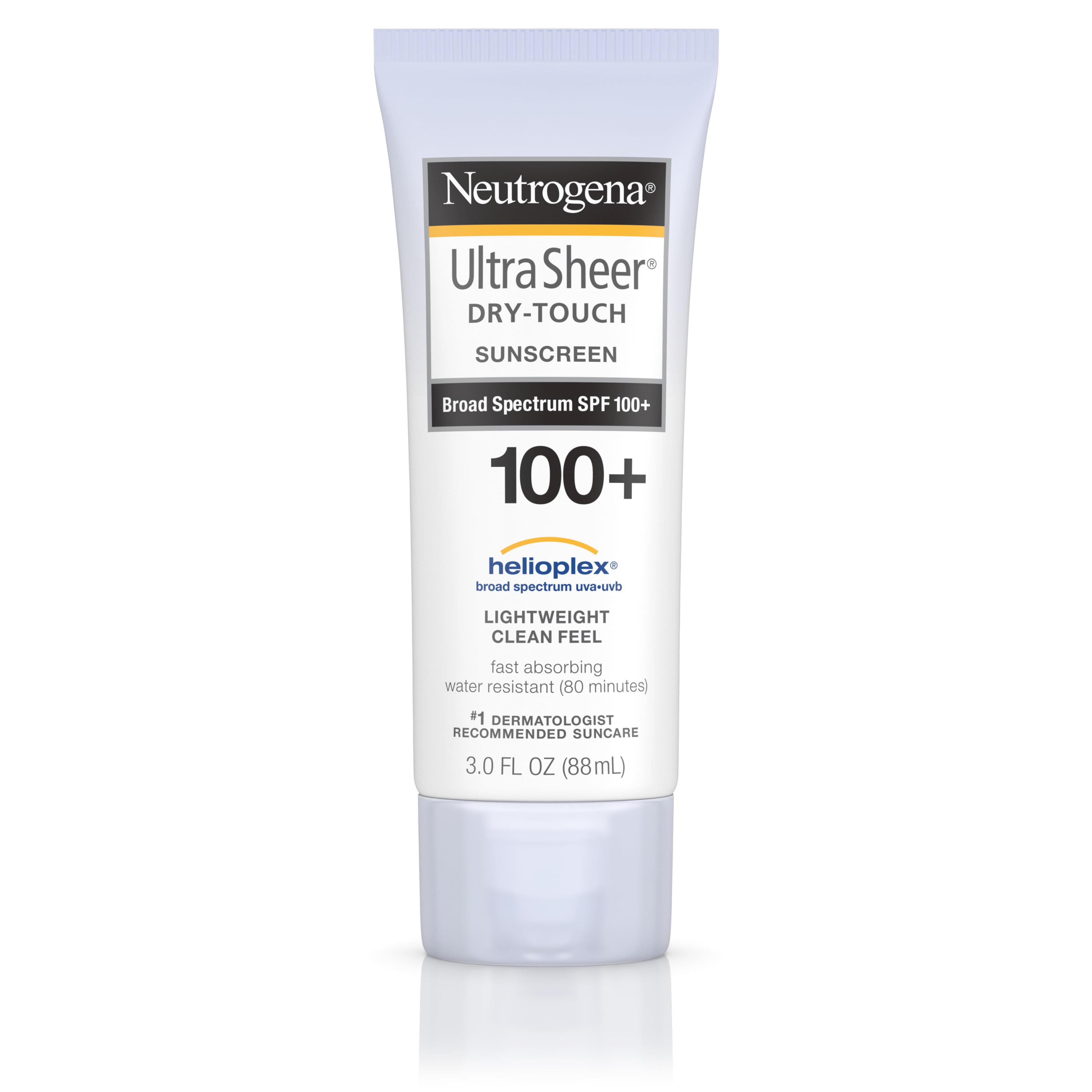 Neutrogena Ultra Sheer Dry-Touch Sunscreen Broad Spectrum SPF 100, 3 Fl. Oz