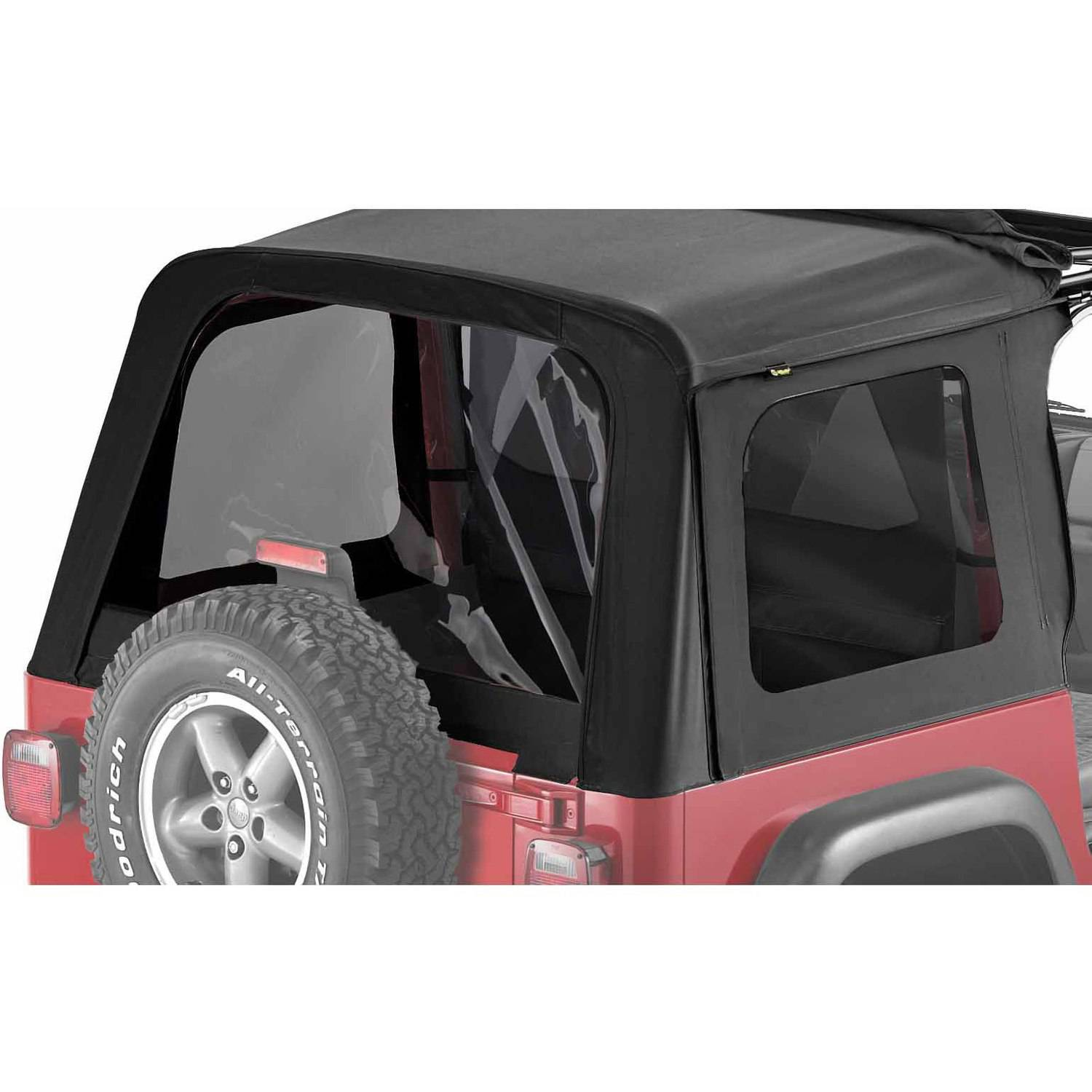 Bestop 587 Jeep Wrangler Tinted Window Kit, Black Denim by Bestop