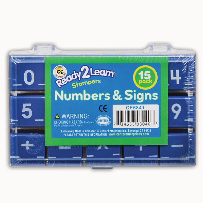 MANUSCRIPT NUMBERS STAMP SET 1 NUMBERS & SIGNS