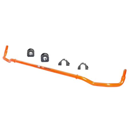 aFe Power 440-503002RN aFe Control Sway Bar; Rear; Incl. 29mm Rear Bar/Bushings w/Brackets/Bar Ends; Direct Fit Installation; Powdercoat Tangerine Orange;