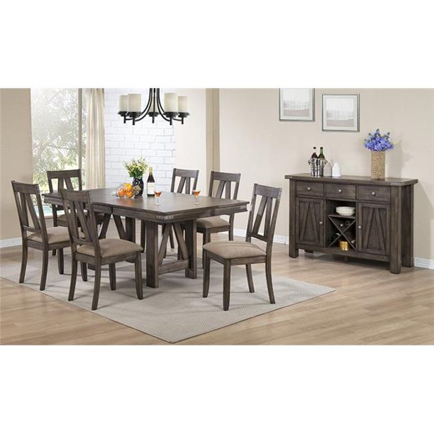 kb d64901 30 x 42 x 60 in wood rectangle dinette dining