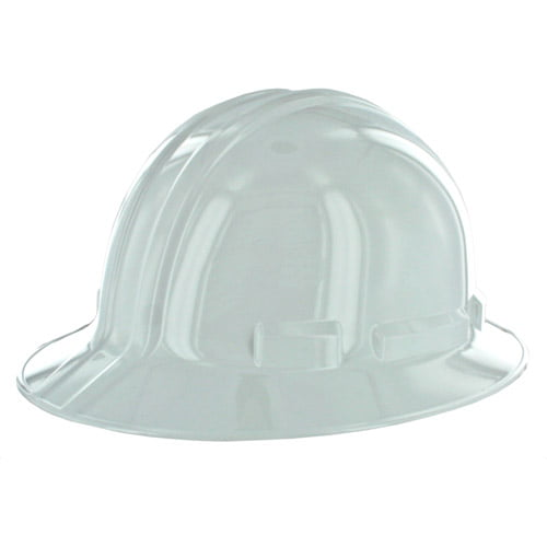 3M Full-Brim Non-Vented Hard Hat with Ratchet Adjustment, White by 3M