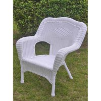 International Caravan Monaco All-Weather Wicker Deep Seated Lounge Chair - Set of 2