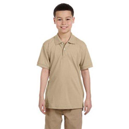 Harriton Youth 5.6 oz. Easy Blend™ Polo