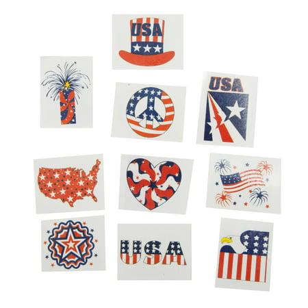 Glitter Patriotic Tattoos](Patriotic Tattoo)