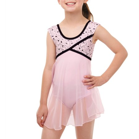 Girls' Babydoll Leotard with Keyhole Cutout Back - Girls Leotard