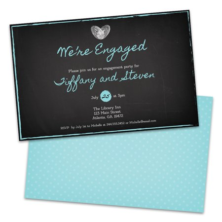 Personalized Thumbprints Engagement Party Invitations