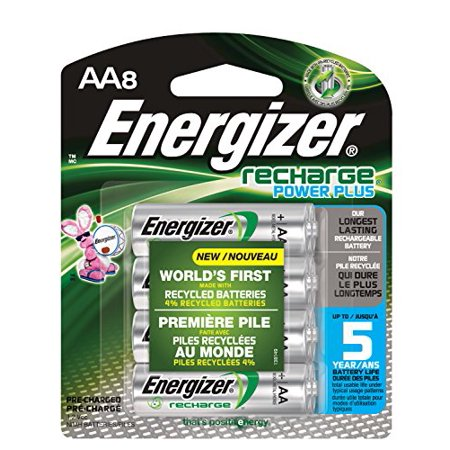- Energizer Recharge Power Plus AA 2300 mAh Rechargeable Batteries, Pre-Charged,  8 count