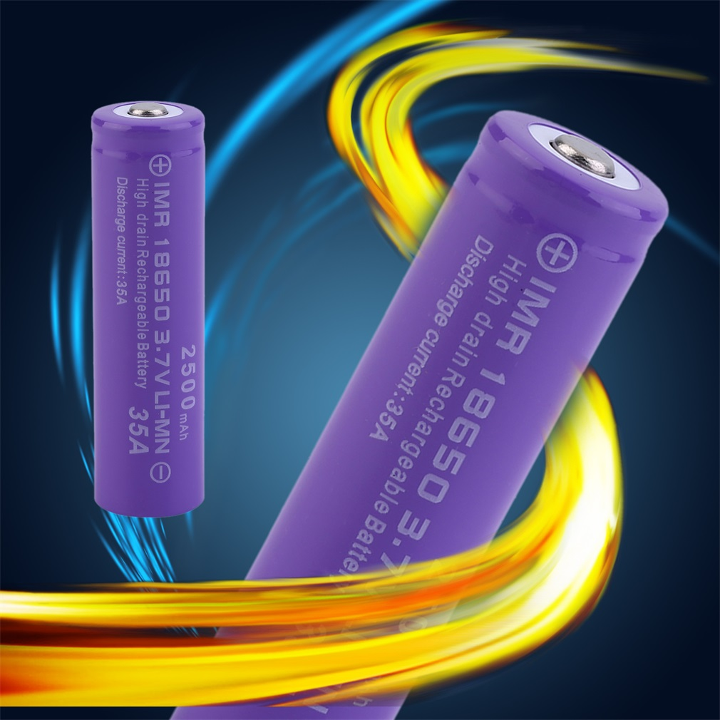 18650 Battery 8 Pack 2500 mah 3.7v Lithium Rechargeabel Battery Button Top Battery for Flashligt Headlamp