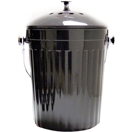Natural Home 1-Gal MOBOO Compost Bin, Charcoal by Generic