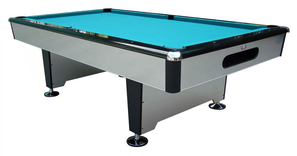 Ordinaire Silver Knight 7 Ft. Slate Pool Table (Drop Pockets)