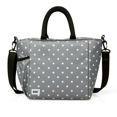 Built I Love Lunch Bag Grey Dot