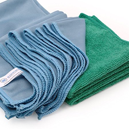 Microfiber Glass Cleaning Cloths - 8 Pack | Lint Free - Streak Free | Quickly and Easily Clean Windows & Mirrors Without (Best Way To Wash Windows Without Streaks)