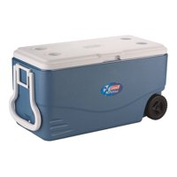 Coleman 100 QUART XTREME 5 Day Heavy-Duty Cooler With Wheels, Blue